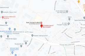 carte du Complexe Sportif des Longrais via Maps